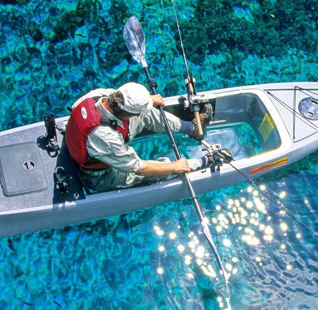 Caribe Clear Bottom Fishing Kayak #Fishing, #Ingenious, #Underwater