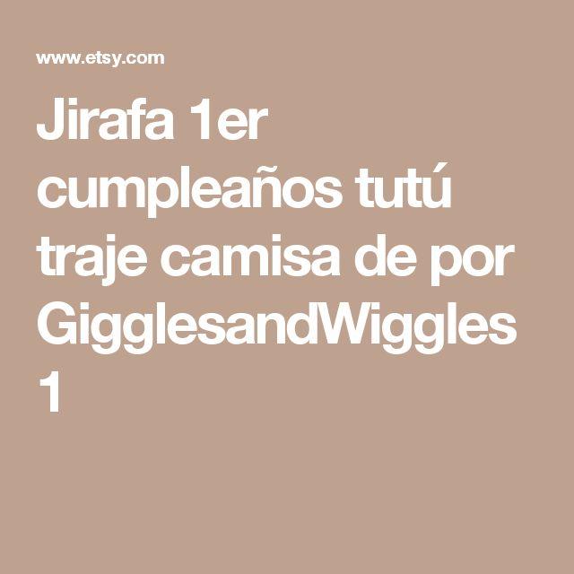 Jirafa 1er cumpleaños tutú traje camisa de por GigglesandWiggles1