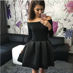 Long sleeve short prom dress,party dresses