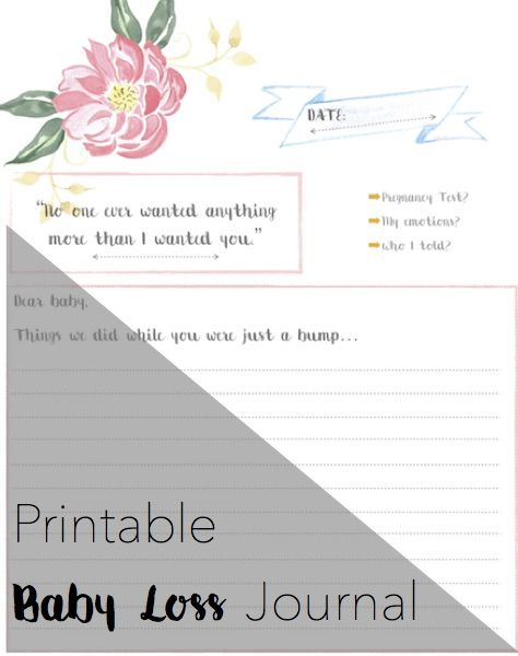 Printable baby loss journal to help angel mamas. Inspirational baby loss quotes and prompts for all mamas who have suffered a miscarriage, stillbirth or neonatal death.