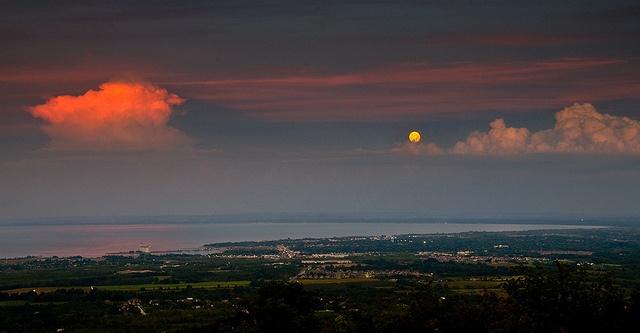 Moon over Collingwood Ontario