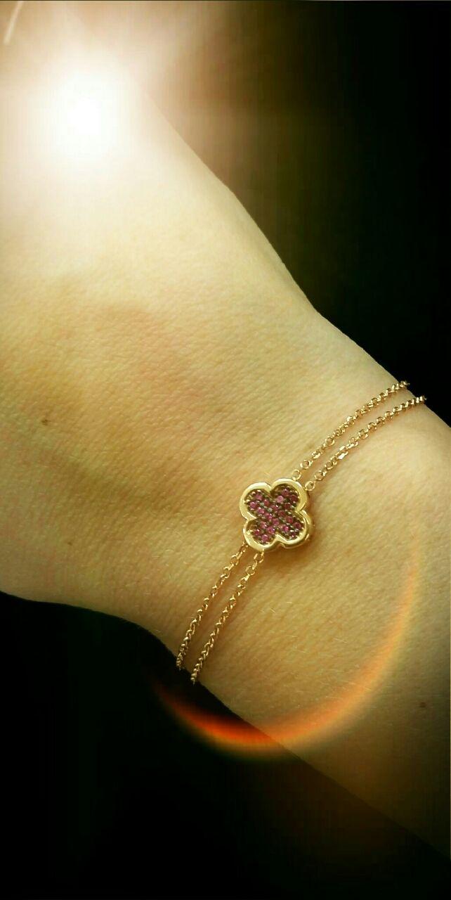 gold bracelet vancleef 14k