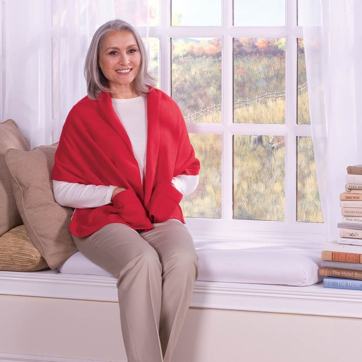 Miles Kimball polar fleece shawl is very attractive and comfortable to wear. This polar fleece wrap is extra warm, yet still feather light.