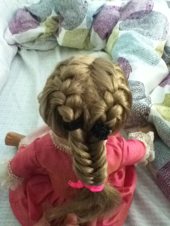 2 French Braids Into A Fishtail Hair Styles By Me