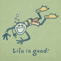 Life is Good Scuba Diver crusher tee.  Wish Life is good would bring these back...