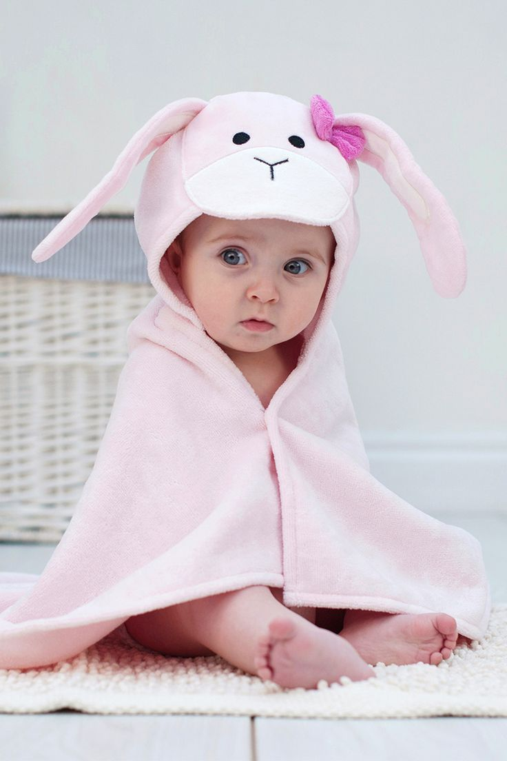 Personalised Bunny Baby Towel Personalised Baby Gift With