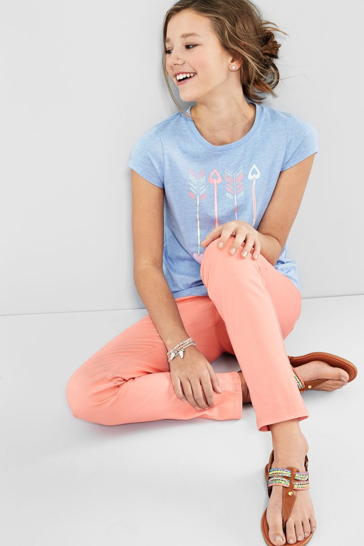 #jeggings offer the best of two worlds: they fit like a jean but feel like a legging. The girls will love them! #looksforless #fashion #kidsfashion #spring2016 #denim