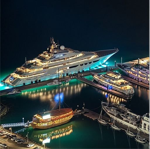 Luxury #MegaYacht in #Dubai Marina.   #SuperyachtFinishingService www.absoluteboatcare.net info@absoluteboatcare.net