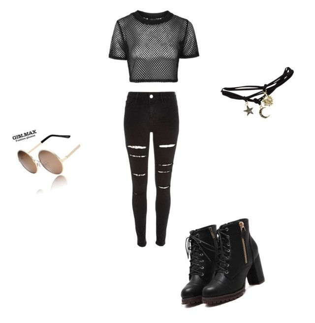 """""""✊"""" by jnbell on Polyvore featuring Topshop, River Island, Wet Seal and GIMMAX Glasses"""