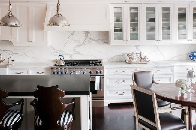 unique polished marble Kitchen Counters | ... kitchen cabinets marble slab countertops backsplash white kitchen