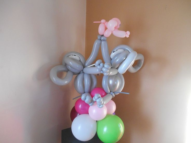 elephant themed baby shower balloon decoration baby shower balloon