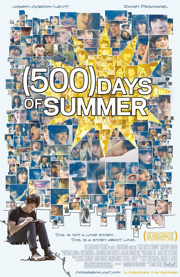 (500) Days of Summer movie poster - favorite movie ever!