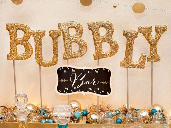 Any plans to celebrate New Year's Eve? Invite a few close friends to ring in the New Year with an intimate, cozy party at home! Fill a candy table with clear glass jars of colorful treats and set up your sparkly, celestial decorations all around.  Feel free to add in some glitter and confetti.  Here …