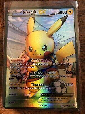 Leggi La Descrizione Pokemon Gx Ex Mega M Soccer Pikachu Full Art Read Pokemon Cards Legendary Cool Pokemon Cards Pokemon Cards