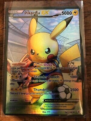 Pikachu Carte Pokemon Metal Gold EX GX Card Fan Made Custom