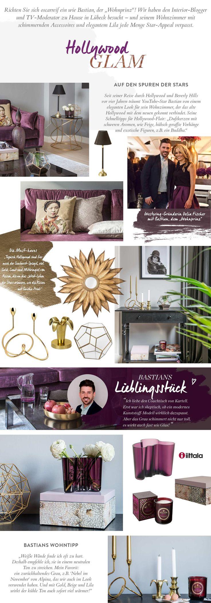 wohnzimmer lila grau:Wohnzimmer, Hollywood, Glam, Chic, Glamourös, Edel, Klein, Lila, Gold