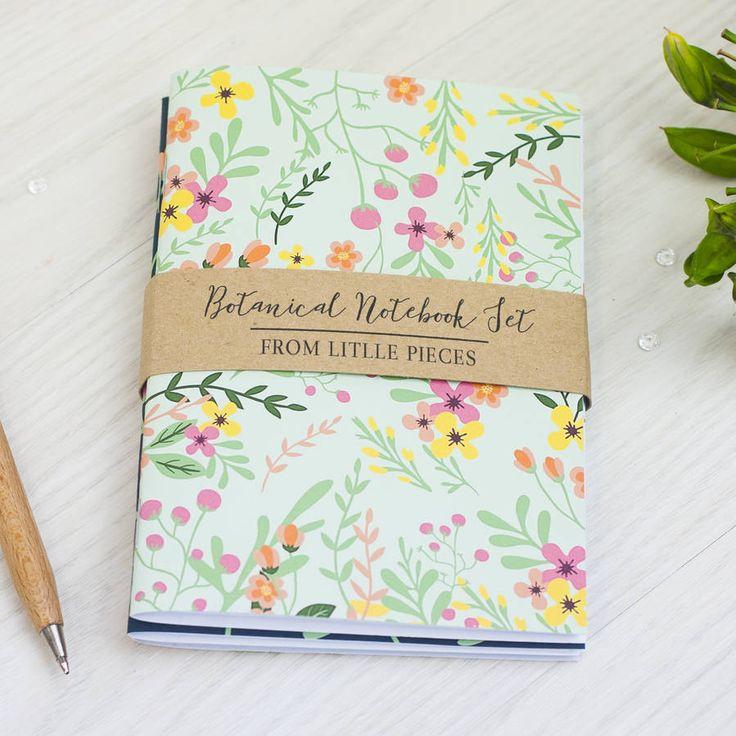 Botanical Notebook Set – Little Pieces