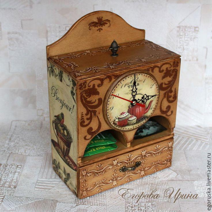 """Купить Чайный домик Чайный буфет """"Время пить чай"""" - бежевый, Медовый, чайный домик"""
