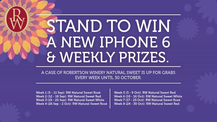 I just entered to win an iPhone 6 with @RobertsonWinery, and you can too! #MoreToShare