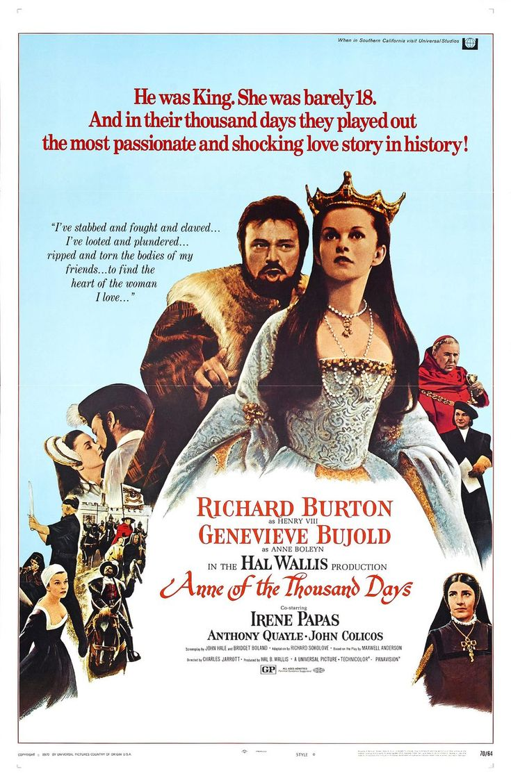 Anne of the Thousand Days 2/26/12Google Image, Movie Posters, Anne Of The Thousand Day, Full Movie, Anne Of A Thousand Day, Fabulous Film, Film 1969, Beautiful Posters, Favorite Movie
