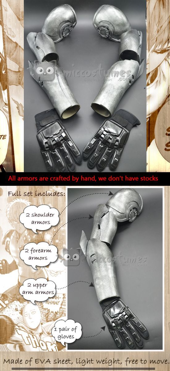 Pre-Sale One Punch Man Genos Cosplay Cyborg Arms