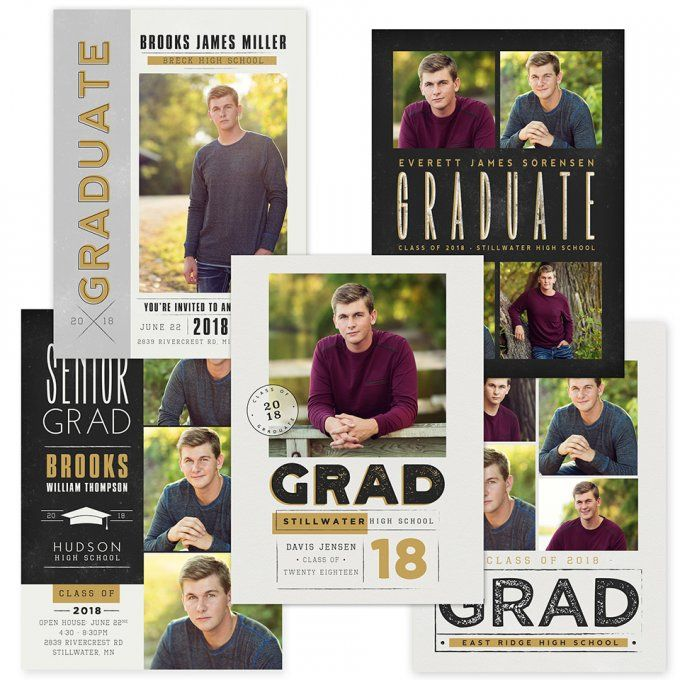 Bold Statement Grad Card Templates by Jamie Schultz Designs