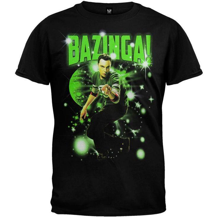 Big Bang Theory - Sheldon Bazinga Stars T-Shirt