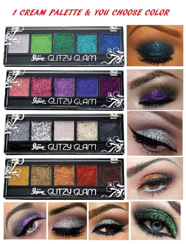 5 NEW Eye shadow Color Makeup PRO GLITTER Eyeshadow PALETTE     eBay