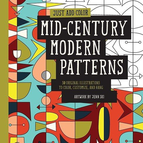 Mid-Century Modern Patterns by Jenn Ski | 17 Colouring Books That Every Grown-Up Needs