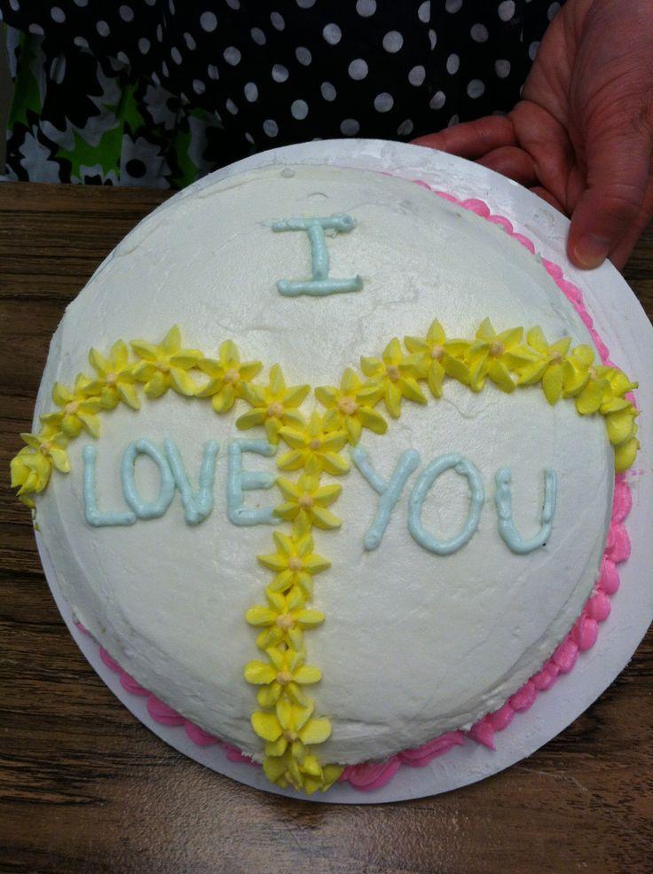 I Love You Cake From Decorating Basics