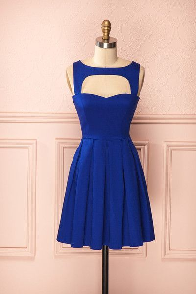 Vintage Prom Dress, Royal Blue Prom Gowns, Mini Short Homecoming Dress