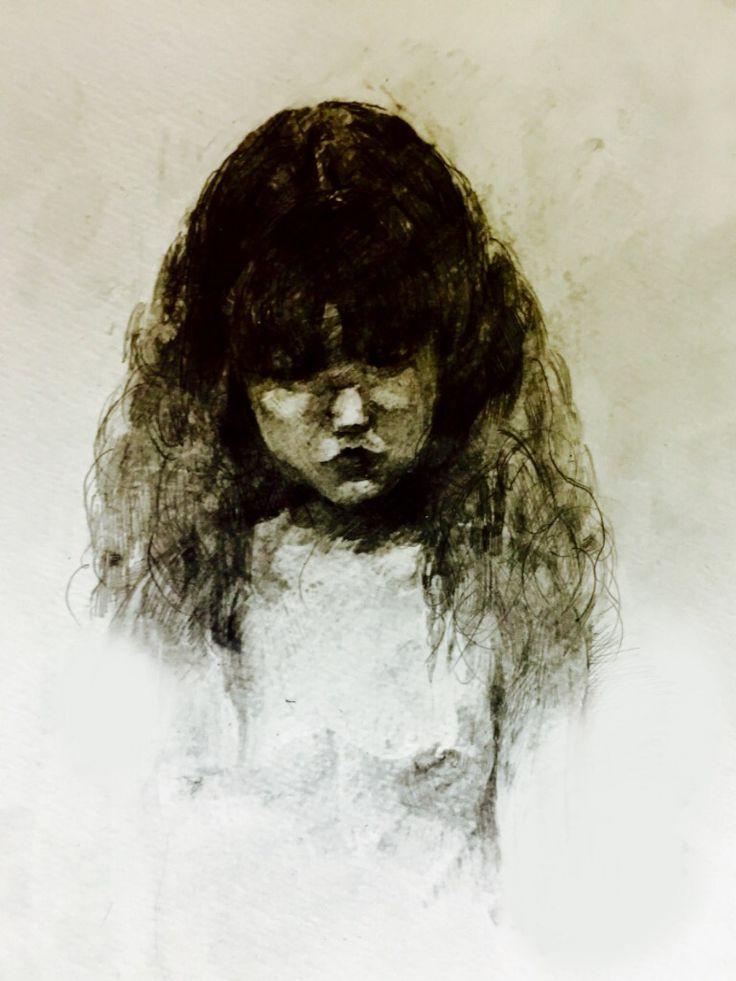 """The girl""pencil sketch"
