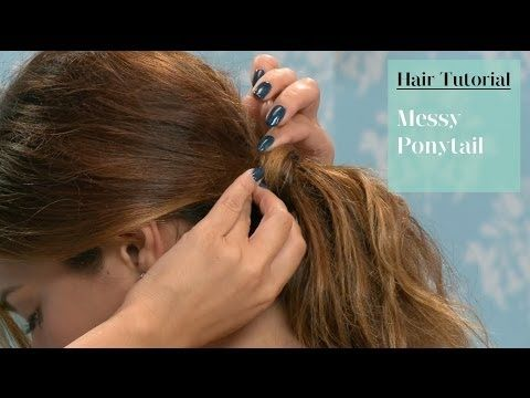 how to make hair look thicker in a ponytail