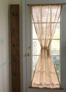 Diy burlap curtains love these um jennifer when can you make these step by step guide to a diy burlap curtain for your glass door solutioingenieria Gallery