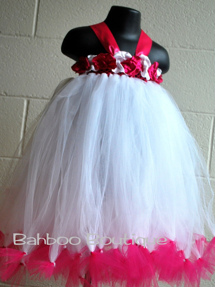 Baby Tutu Dress Petti Tutu Dress Flower Girl Dress Fuscia Tutu Pink Tutu  12months - 3. $76.00, via Etsy.
