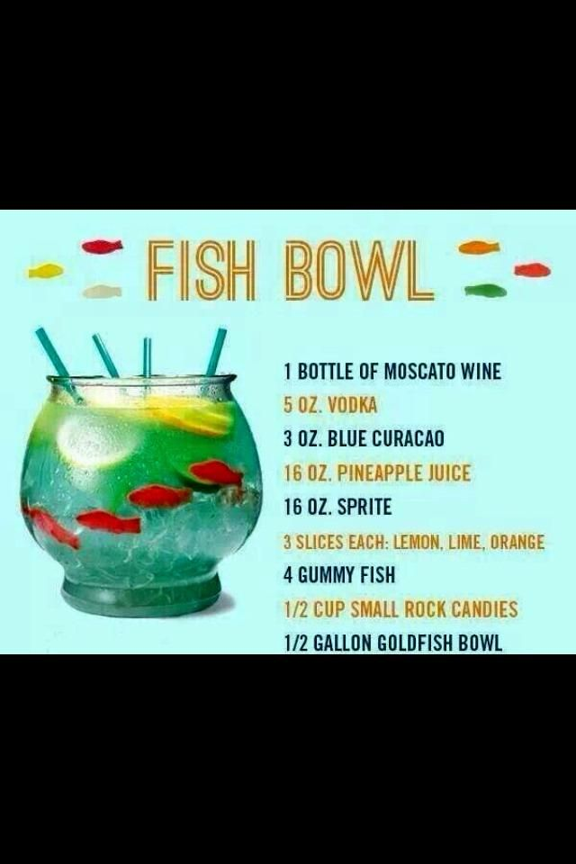 Fish bowl/punch bowl with swedish fish inside. ( i would do it with no alcohol though)