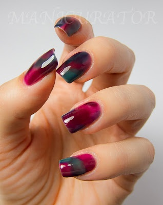 """Stained Glass"" Nails - Love the ring finger nail!"