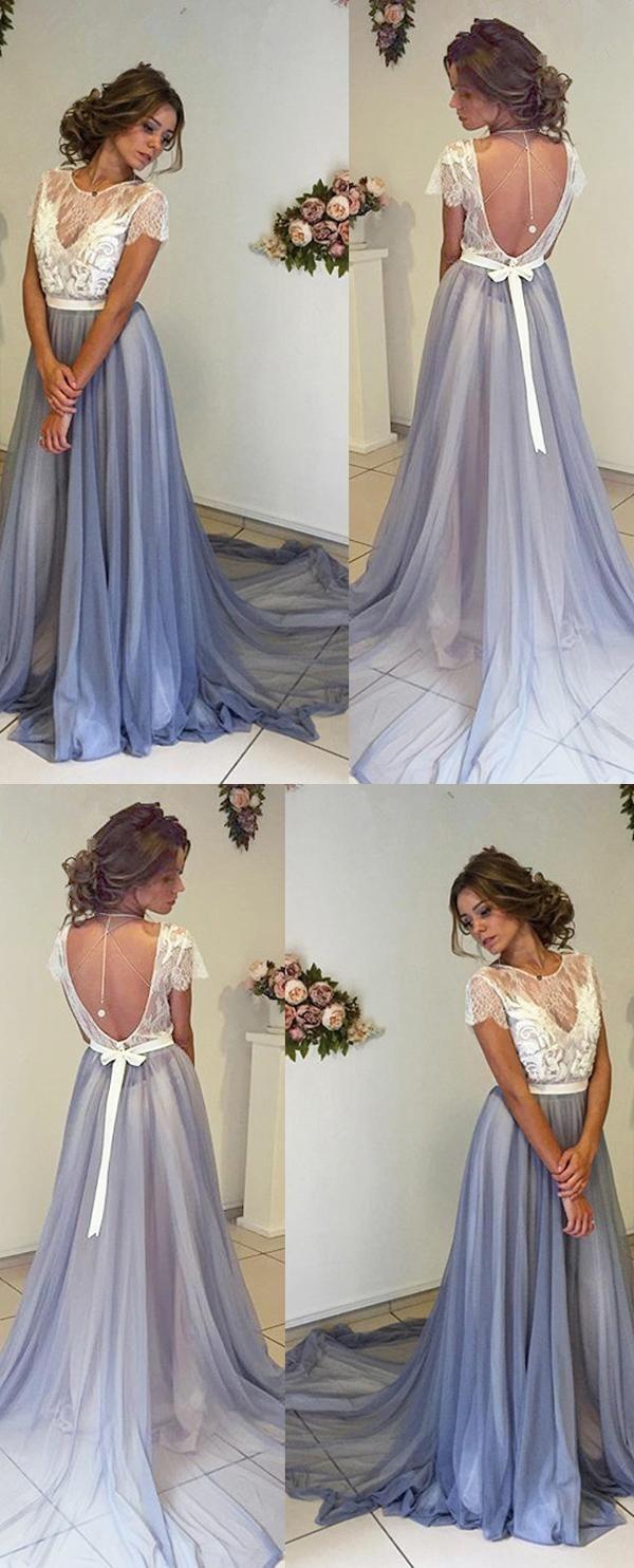 Lace white prom dresses prom dresses lace evening dress long