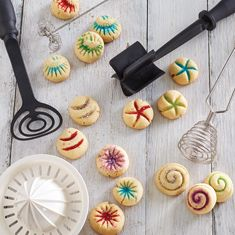 Use tools like the Mix n Chop, Mix n Mash and the Spring Coil Whisk to make fun designs on your Christmas cookies! Find these directions and more at my website www.pamperedchef.biz/bekahbruggman