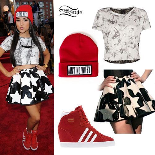 "Becky G is slaying the red carpet in her ""Aint No Wifey"" Beanie!"