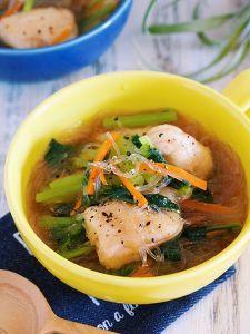 別茹で不要♪『鶏むね肉と春雨の具沢山おかずスープ』 by Yuu | レシピサイト「Nadia | ナディア」プロの料理を無料で検索