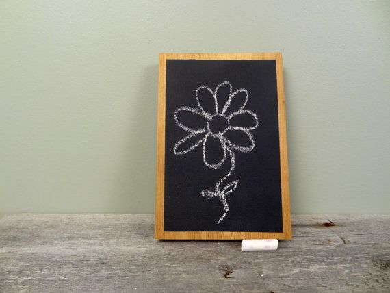 Small Hand Held Chalkboard Tablet Memo or Note by TheHomeMarket