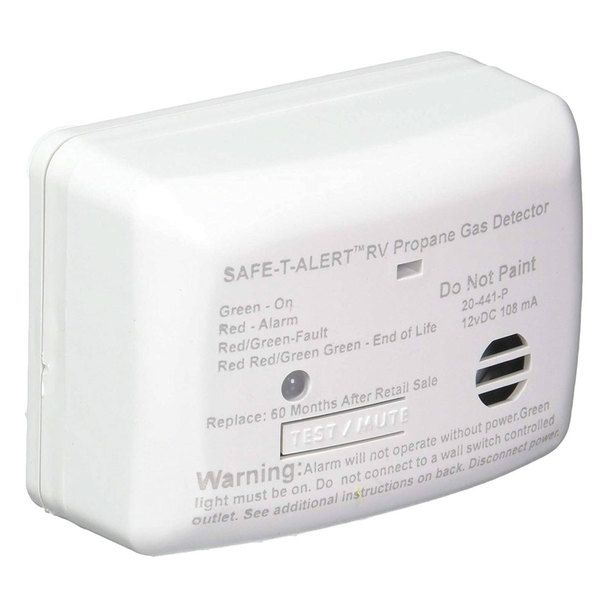 Safe T Alert 20 441 P Wt Rv Mini Propane Leak Detector Alarm Lp Gas Sniffer Propane Gas Detector Gas