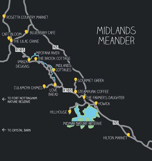 Midlands map