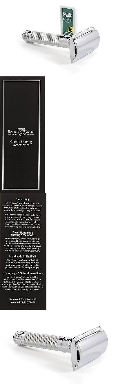Mens Razors: Edwin Jagger Kelvin Double Edged Safety Razor Knurled -> BUY IT NOW ONLY: $36.97 on eBay!