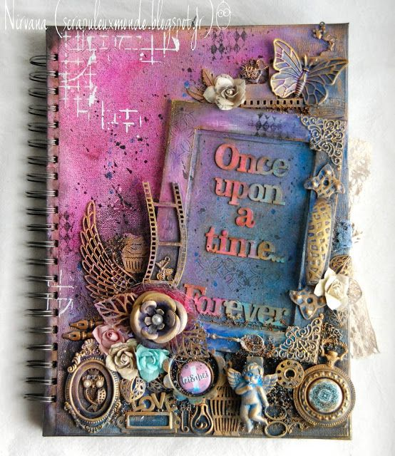 Nirvana Peggy art journal tutorial http://scrapuleuxmonde.blogspot.fr/2015/11/once-upon-time.html