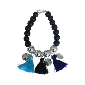 Tropicana Tassel Bracelet - Black