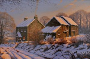 Winters Glow. Original Oil Painting by Edward Hersey
