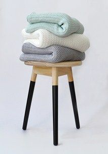 Knitted throw stack