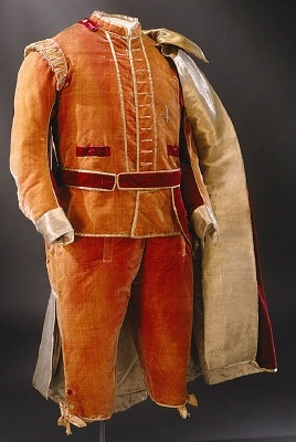 Suit belonging to Gustav III of Sweden, 1779.